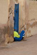 Resting worker