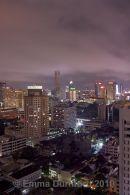 Bangkok Skyline and cloud covered tower