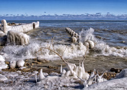 The Icy Shore of Lake Michigan