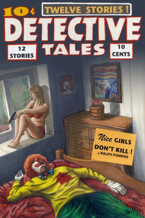 Detective Tales artist edition framed print £80