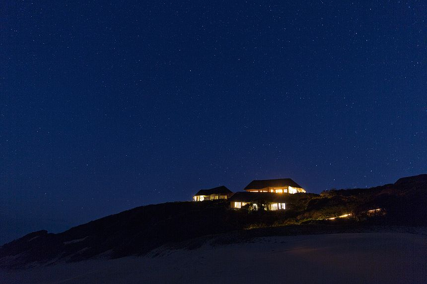 An endless sky and countless stars above the villa.