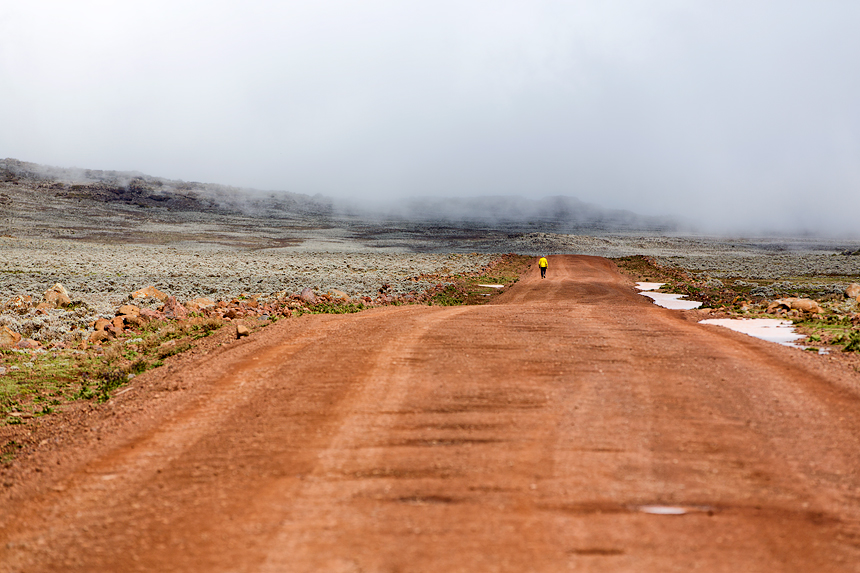 On the highest all-weather road in Africa, walking is optional...