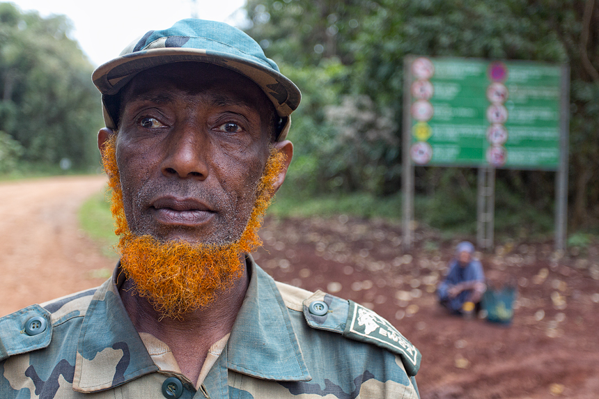 The henna coloured beard of this Bale Mountains ranger doesn't cease to amaze!