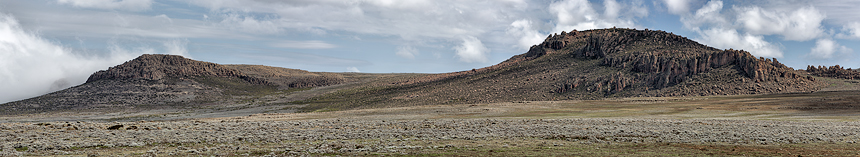 A panorama at Sanetti Plateau