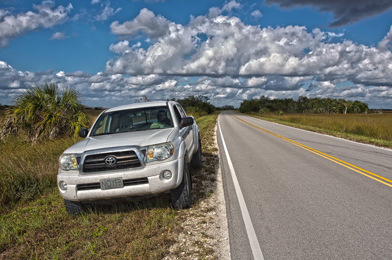 My travel mate and his ride in Everglades National Park. Canon 5D MKIII, Canon EF 17-40mm f/4.0 L USM, HDR, f/9, iso 100, handheld.