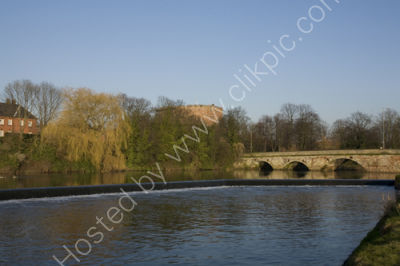 Tamworth Castle from river Tame.