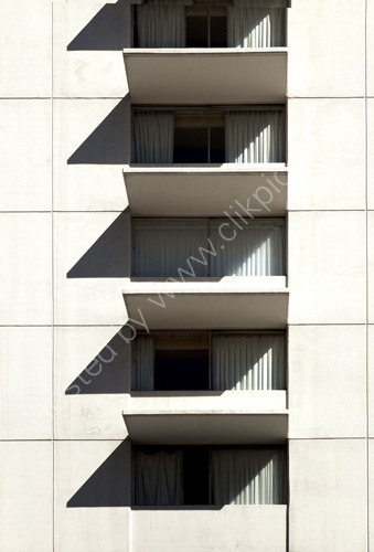 Windows and Shadows on building Las Vegas