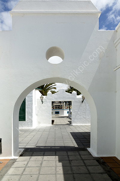 Entrance to Main square Costa Teguise.
