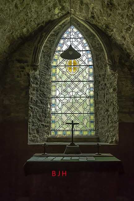 Church window Caldey Island