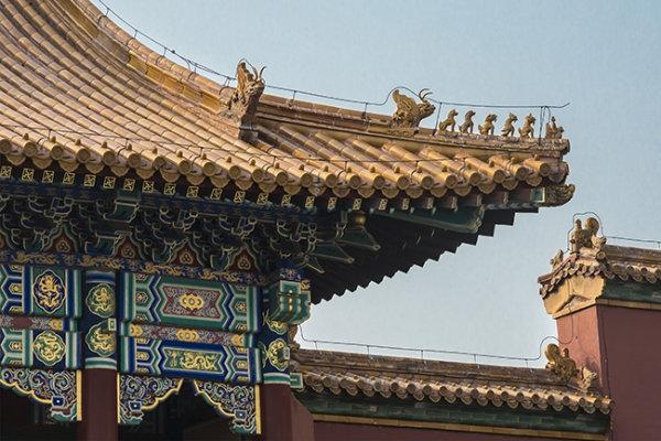Roof detail Forbidden City Beijing China