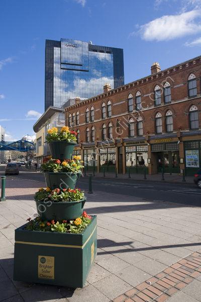 Broad Street and Hyatt Hotel, Birmingham.