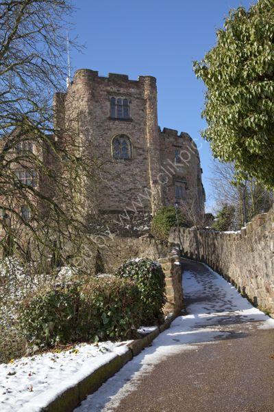 Tamworth Castle in snow