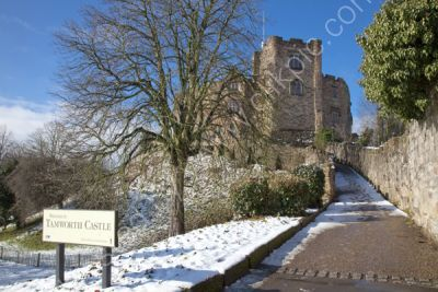 Tamworth Castle in Snow