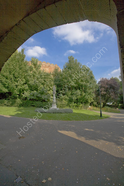 Tamworth Castle from the gatehouse.