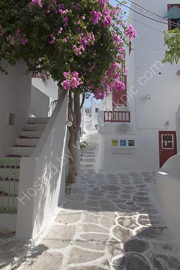 Side Street Mykonos Greece