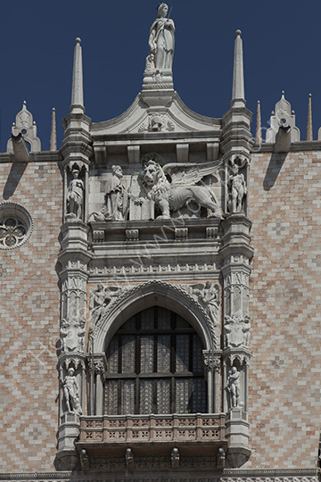 Detail of the Douges Palace venice