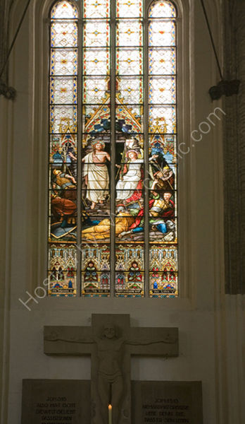 Church window, Rostock Germany.