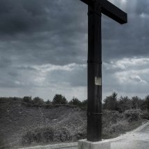 Tyneside Memorial Cross at the Lochnagar Mine Crater La Boisselle Somme France