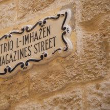 Street name plate Mdina.