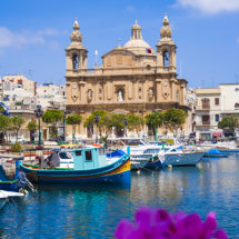 Msida Church and Marina.