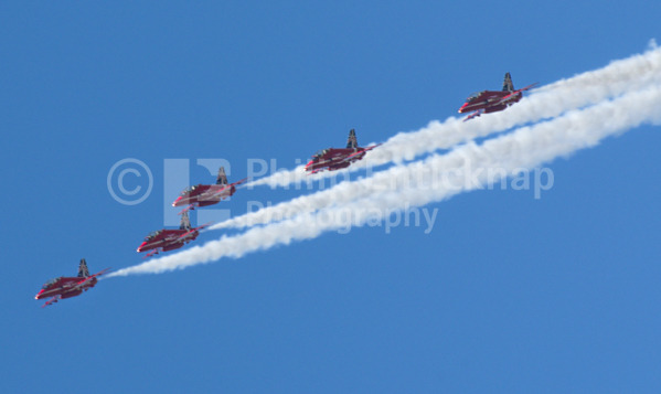 The Red Arrows RAF aerobatic display team.