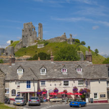 Corfe Castle, Vilage & Castle,Dorset,England.