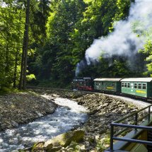 Weisseritz Valley Railway. Steam train ride. Saxony ,Germany .