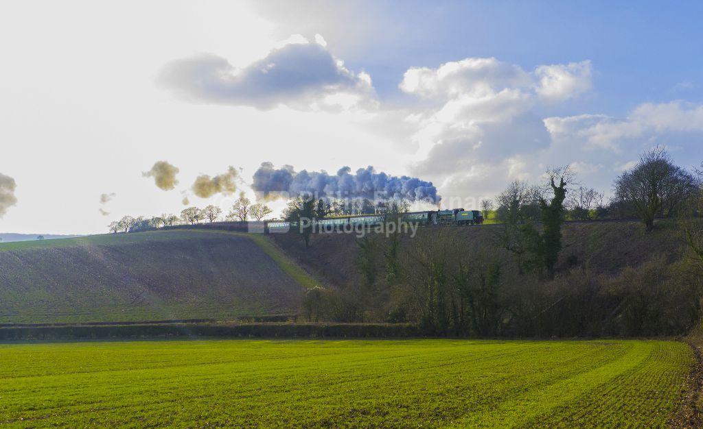 "Schools Class Locomotive number 925 "" Cheltenham ""on the Mid Hants Railway (Watercress Line) Hampshire."