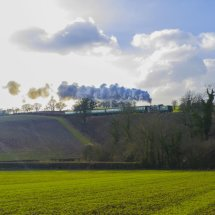 "Schools Class Locomotive number 925 "" Cheltenham ""on the Mid Hants Railway (Watercress Line) Hampshire."