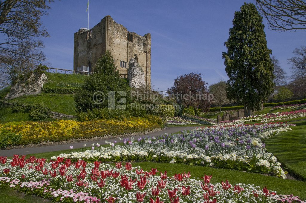 Guildford Castle Keep & Grounds ,Surrey England 2015