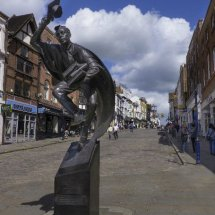 """The Surrey Scholar"". Statue in Guildford High Street"
