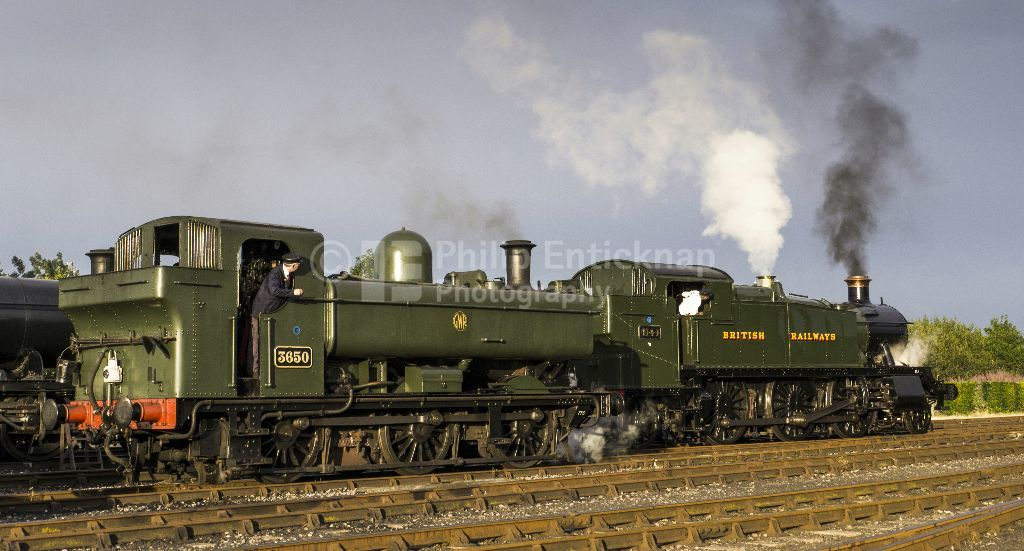 GWR pannier tank No 3650 & BR '5101' class 2-6-2T 'large prairie'