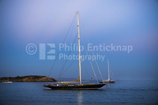 Sailing Yacht at Dusk, Mallorca