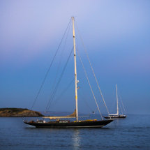 Sailing Yacht at Dusk, Mallorca