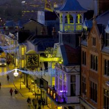 Guildhall & Clock ,with Christmas Lights  at Guildford Surrey ,England