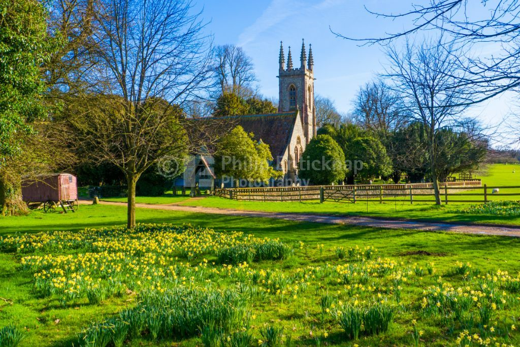 Springtime St Nicholas Church ,Chawton