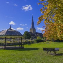 Parish Church of St. Peter & St. Paul,& Bandstand ,Godalming ,Surrey in Autumn