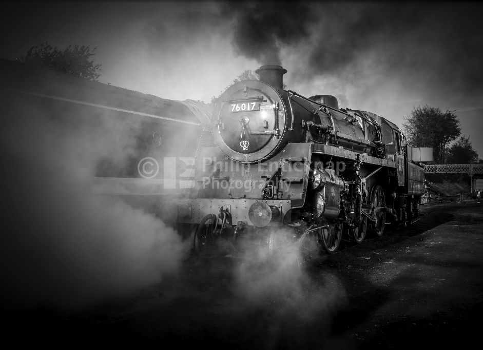 The Power of Steam Black & White