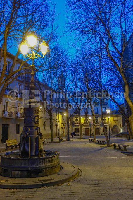 Square in old town ( Casco Viejo ) Pamplona Navarra Spain