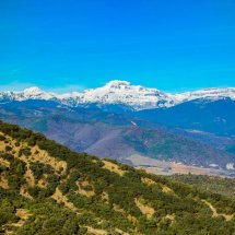 The Snow Capped Pyrenees Mountains in the Huesca region North East Spain
