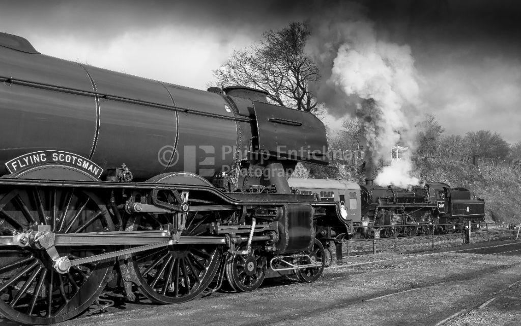 Flying Scotsman at Mid Hants Railway ' Watercress Line