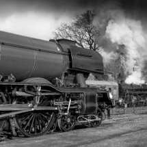 Flying Scotsman at Mid Hants Railway ' Watercress Line ""