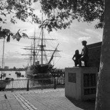 """NEW"" August 2021.HMS Warrior, & Mudlarks Statue Portsmouth Harbour ,Hampshire."