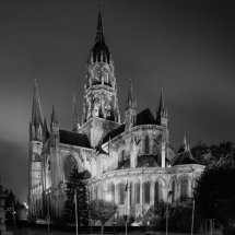 Bayeux Cathedral at Night , Normandy ,France.