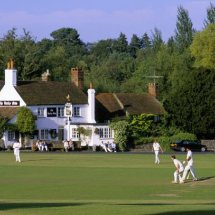 Village Cricket Match, Tilford Surrey England .