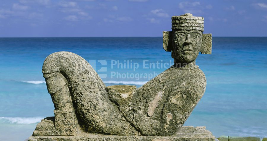 Chacmool statue, Cancún, Mexico