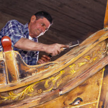 Boat-builder Renovating A Luzzu.