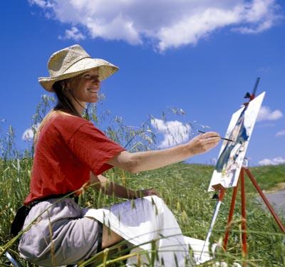 Woman Artist ,Tuscany Italy