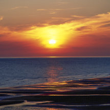 Sunset Cumbria Coast ,England.