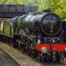 Class LMS 4-6-0 Royal Scot Steam Locomotive at Shalford station Surrey